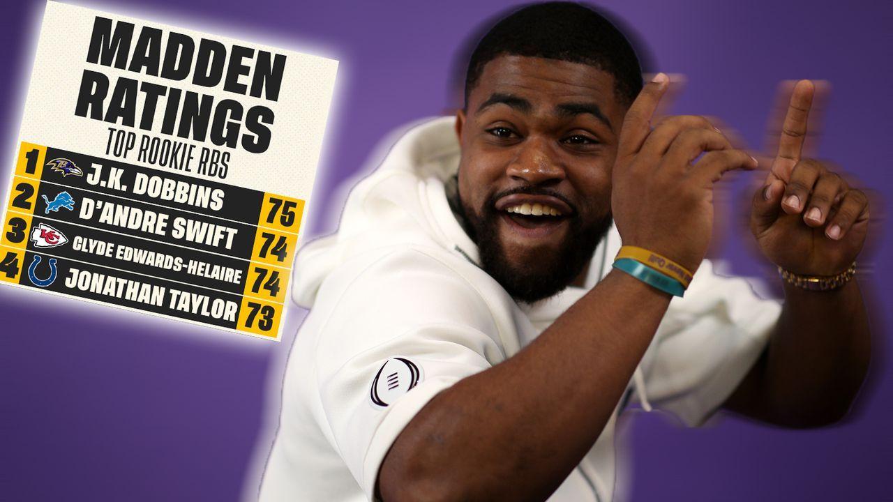 Rookie-RBs in Madden NFL 21 - Bildquelle: Getty // Twitter  @FoxSports