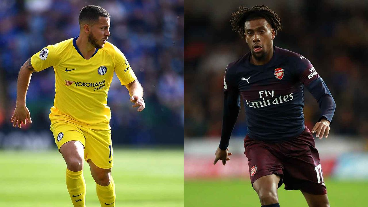 Eden Hazard vs. Alex Iwobi - Bildquelle: Getty