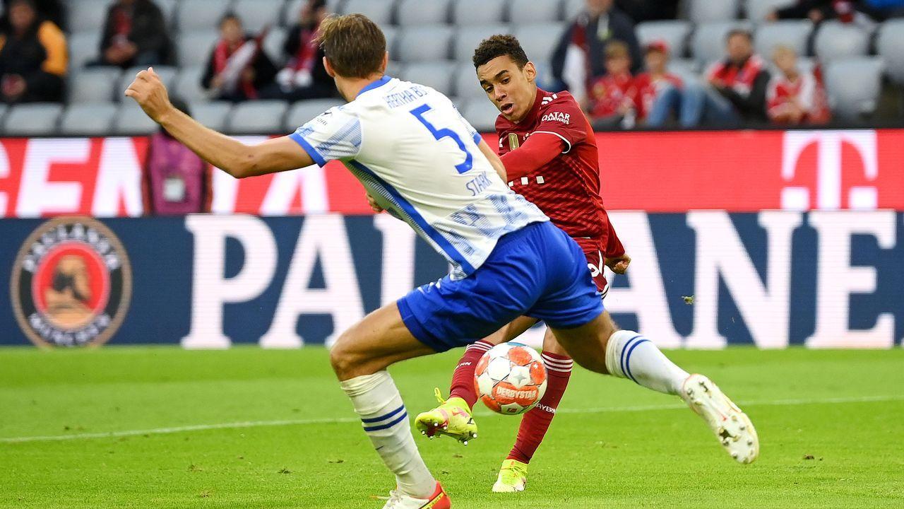 Spielfreudig, zweikampfstark und torgefährlich - Jamal Musiala gegen Hertha BSC