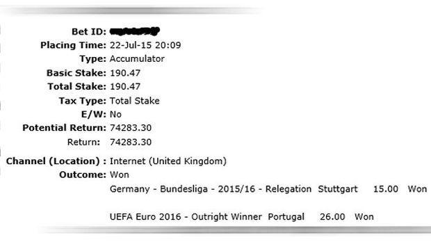 75.000 Euro bei Stuttgart-Abstieg und Portugal-Titel