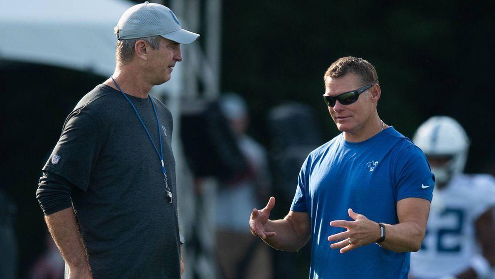 Head Coach Frank Reich (li.) und General Manager Chris Ballard. - Bildquelle: imago/Icon SMI
