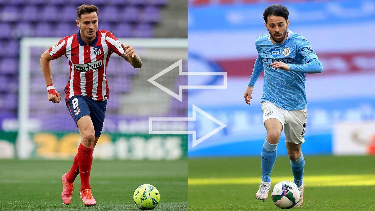 Saul Niguez (Atletico Madrid) & Bernardo Silva (Manchester City) - Bildquelle: Imago Images