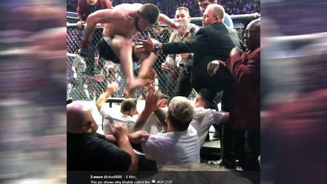Netzreaktionen zum UFC-Fight Nurmagomedov vs. McGregor - Bildquelle: twitter@clue8888