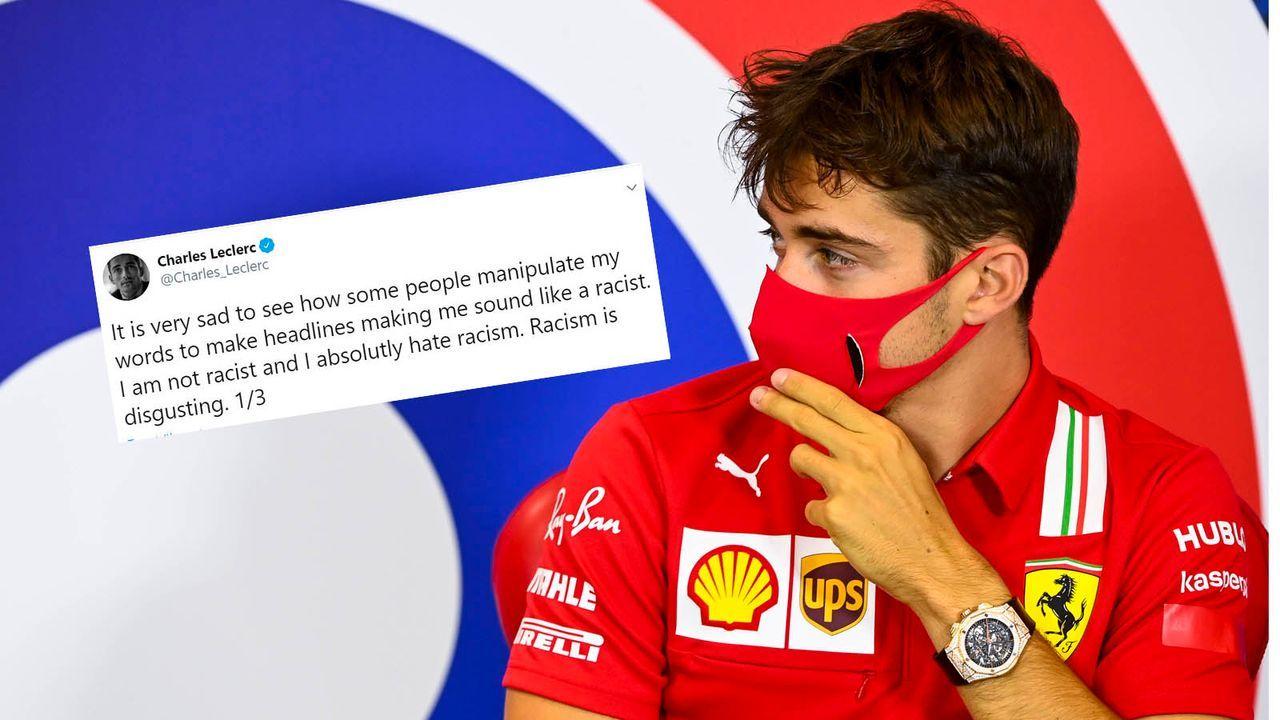 Charles Leclerc wehrt sich gegen Rassismusvorwürfe - Bildquelle: HOCH ZWEI/Pool/Motorsport Images