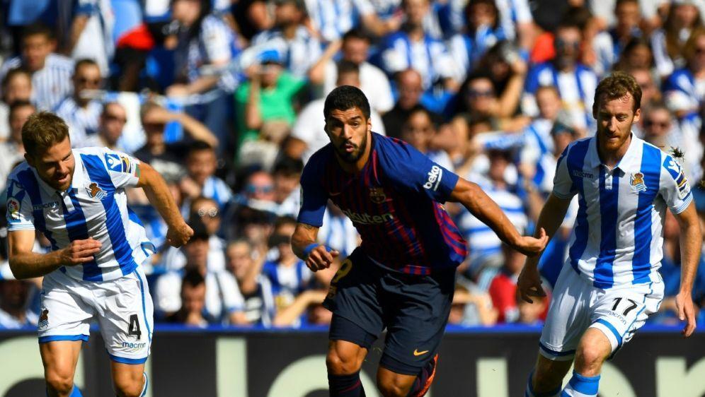 Luis Suarez (Foto) und Dembele drehen das Spiel - Bildquelle: AFPSIDGABRIEL BOUYS