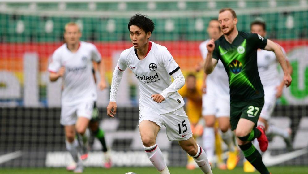 Daichi Kamada erzielt den Siegtreffer für Frankfurt - Bildquelle: AFPSIDSWEN PFORTNER