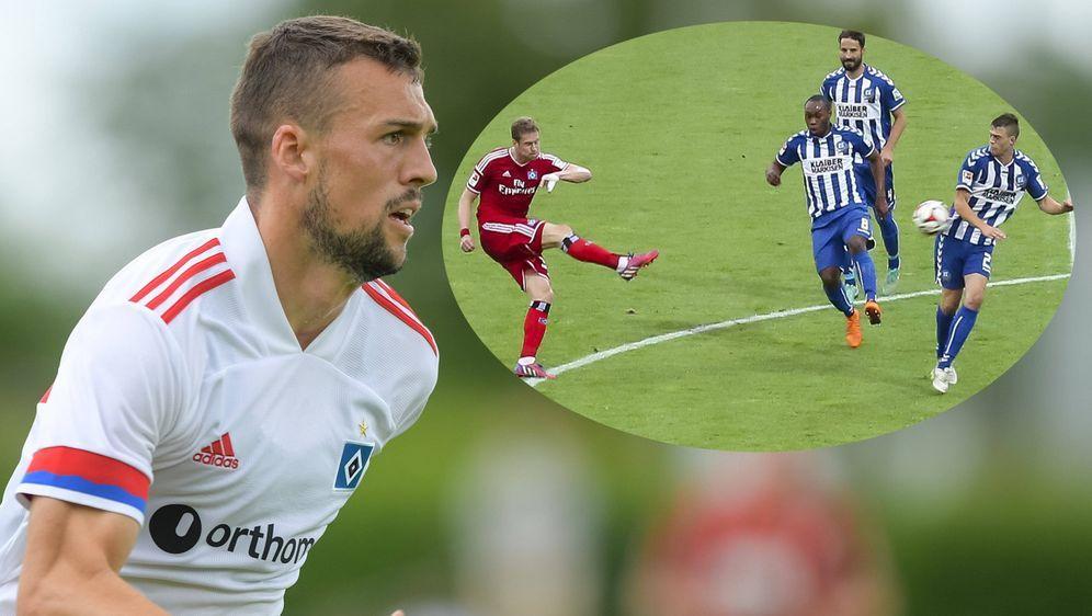HSV-Neuzugang Jonas Meffert traf im Jahre 2015 in den Relegationsspielen mit... - Bildquelle: imago images/Passion2Press