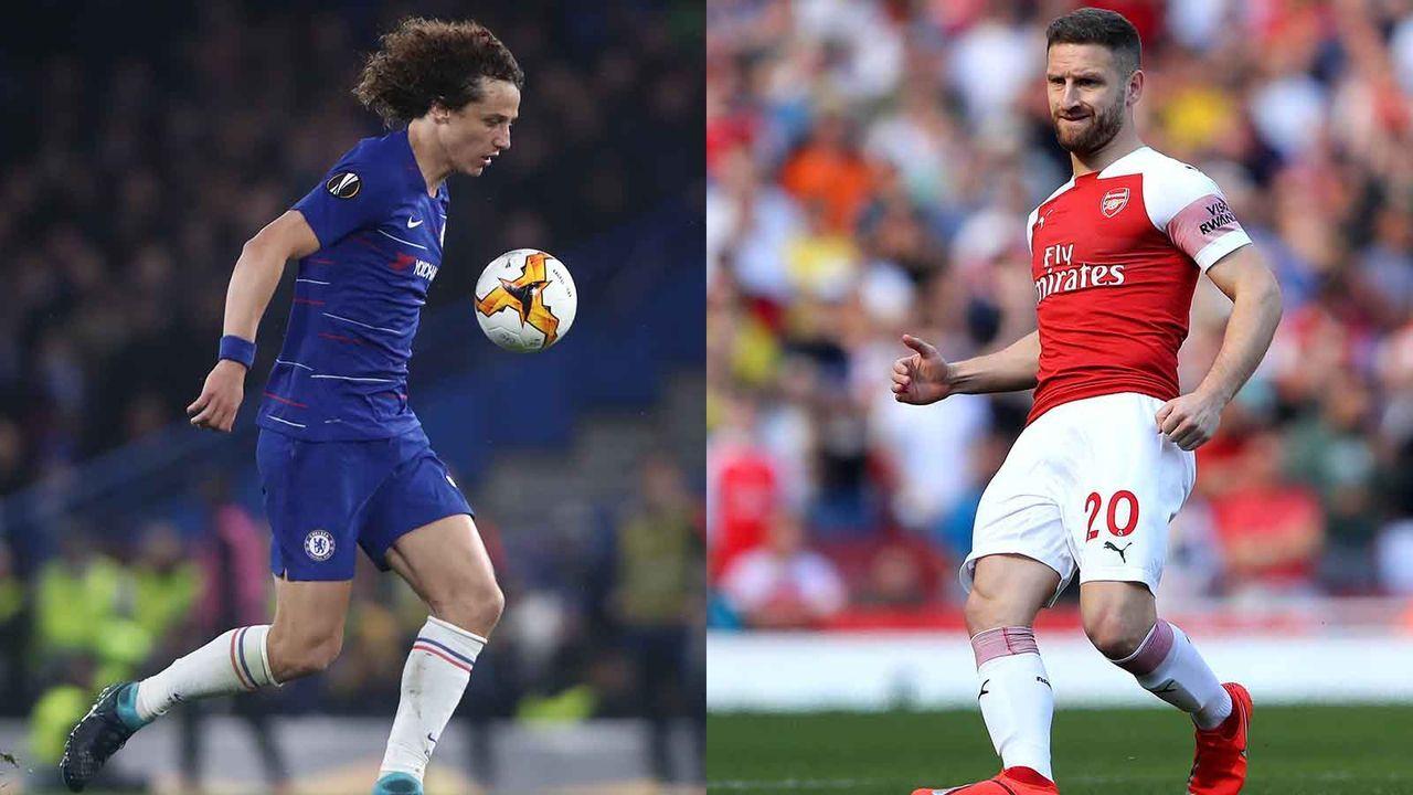David Luiz vs. Shkodran Mustafi - Bildquelle: Getty