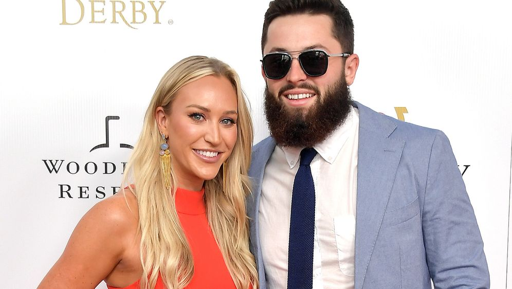 Baker Mayfield und seine Gattin Emily Wilkinson. - Bildquelle: 2019 Getty Images