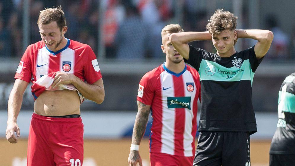 Der VfB vergibt in Heidenheim ein 2:0 - Bildquelle: imago