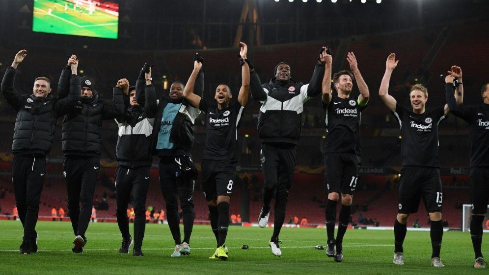Frankfurt feiert den Sieg in London - Bildquelle: AFPSIDDANIEL LEAL-OLIVAS