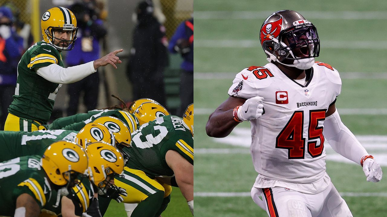 Buccaneers at Packers: Devin White vs. Packers-Offense - Bildquelle: Getty Images