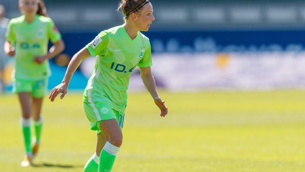 Svenja Huth brachte Wolfsburg in Führung - Bildquelle: FIRO/FIRO/SID/