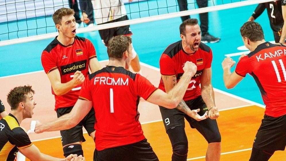 Deutsche Volleyballer mit lösbaren Aufgaben - Bildquelle: AFPSIDJONAS ROOSENS