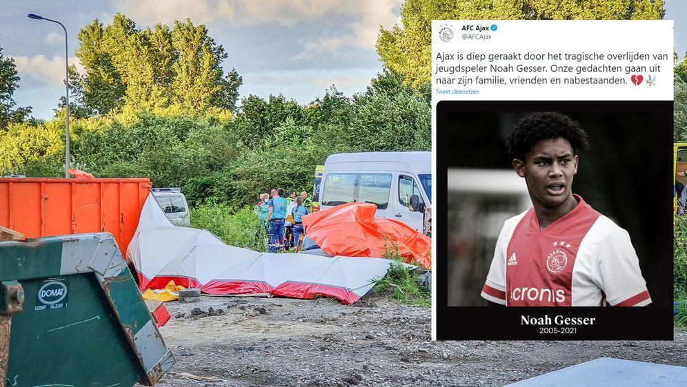 Ajax-Talent Noah Gesser stirbt bei einem Autounfall im Alter von 16 Jahren. - Bildquelle: imago images/Pro Shots