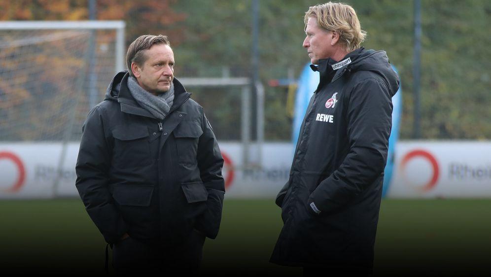 Das neue FC-Duo: Horst Heldt (l.) und Markus Gisdol. - Bildquelle: imago images/Eduard Bopp