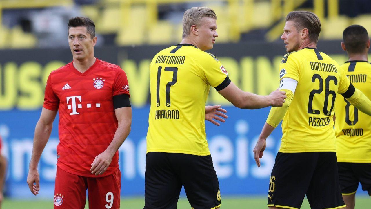 Robert Lewandowski vs. Erling Haaland - Bildquelle: Imago