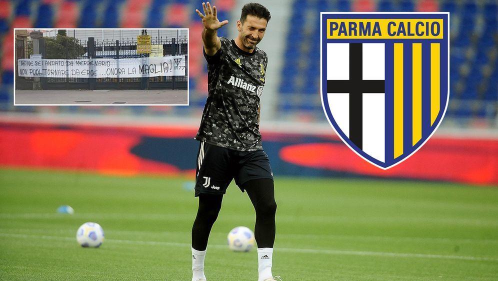Gianluigi Buffon spielte bereits bis 2001 für Parma, wechselte anschließend ... - Bildquelle: Getty Images/twitter@CalcioEngland