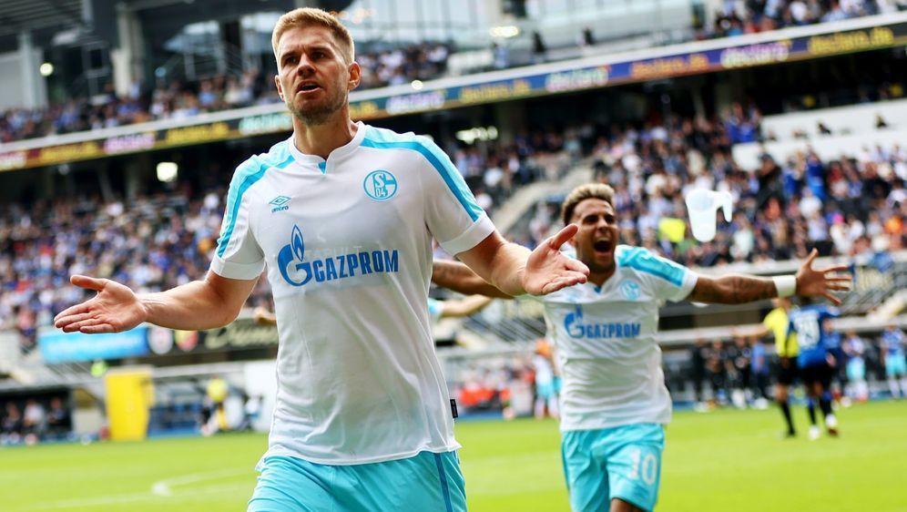 Simon Terodde sorgte für den Sieg der Schalker. - Bildquelle: Getty