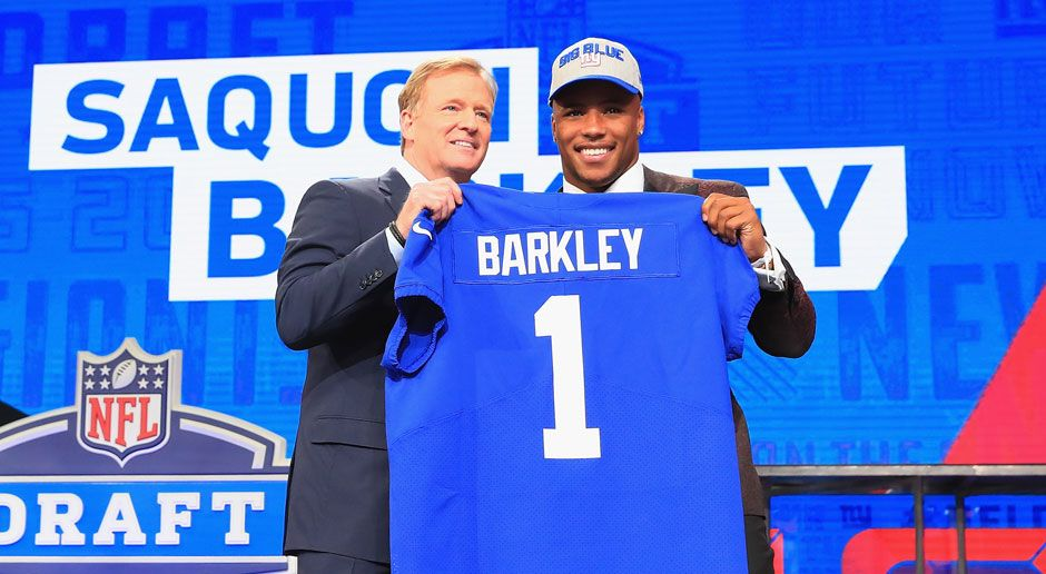 2. Saquon Barkley (Running Back, New York Giants)  - Bildquelle: 2018 Getty Images