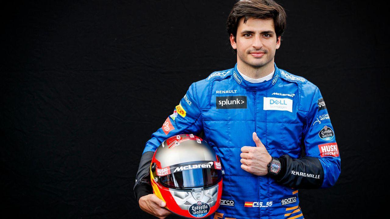 Carlos Sainz jr. hadert mit den schnellen Kurven - Bildquelle: imago images/Nordphoto