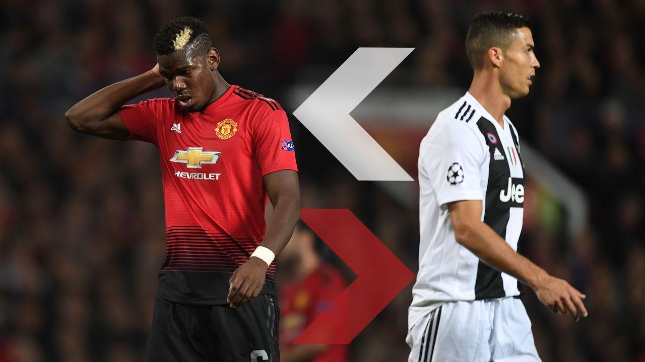 Cristiano Ronaldo (Juventus Turin) und Paul Pogba (Manchester United) - Bildquelle: Getty
