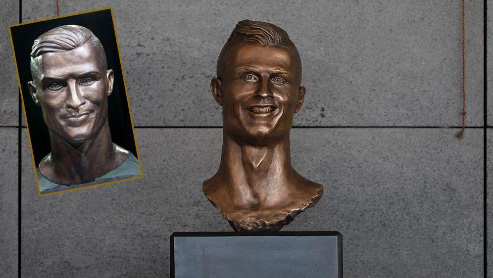 Die Ronaldo-Statue in Madeira erstrahlt in neuem Glanz. - Bildquelle: 2017 Getty Images