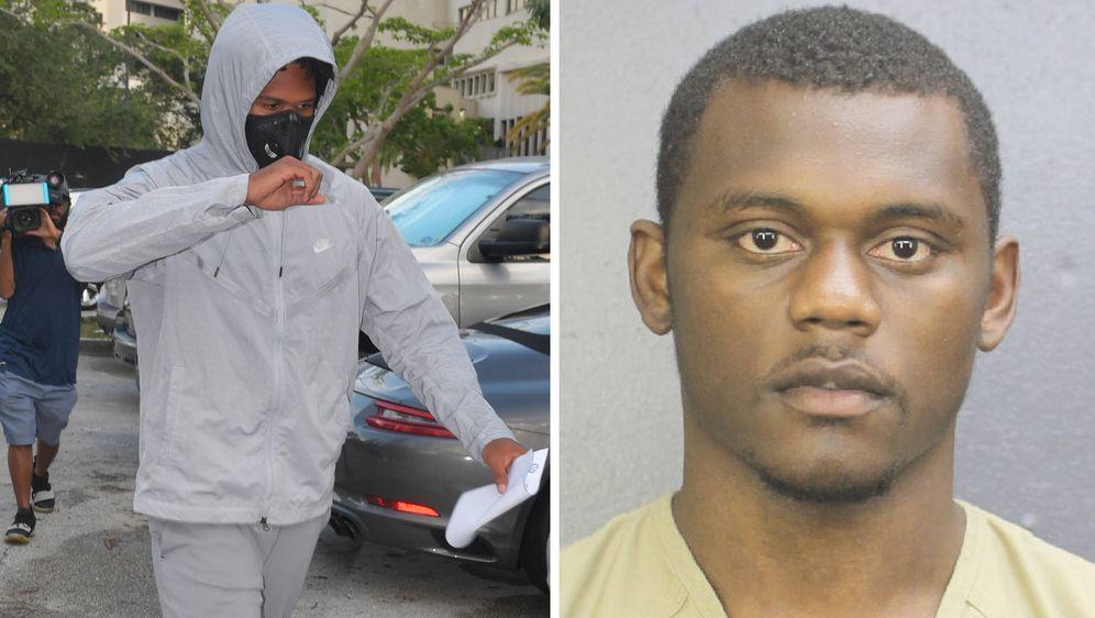 Quinton Dunbar (l). und DeAndre Baker (r.) nach ihrer Verhaftung.