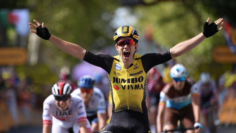 Wout van Aert gewann die 10.Etappe der Tour de France - Bildquelle: AFPSIDMARCO BERTORELLO