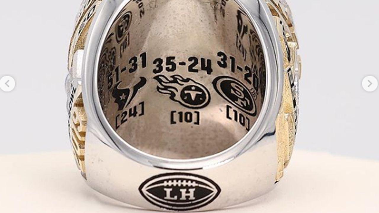 Ring mit Weg in den Super Bowl - Bildquelle: instagram @chiefs