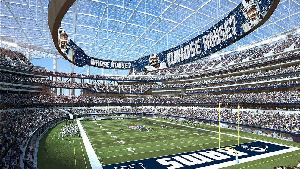 Say my name: Das noch im Bau befindliche Stadion der Los Angeles Rams und de... - Bildquelle: imago