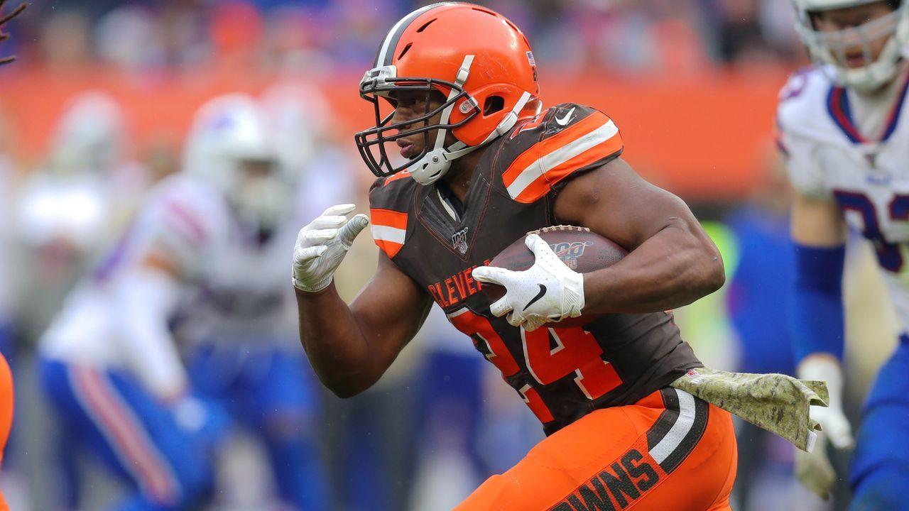 Platz 6: Nick Chubb (Running Back, Cleveland Browns) - Bildquelle: imago images/Icon SMI