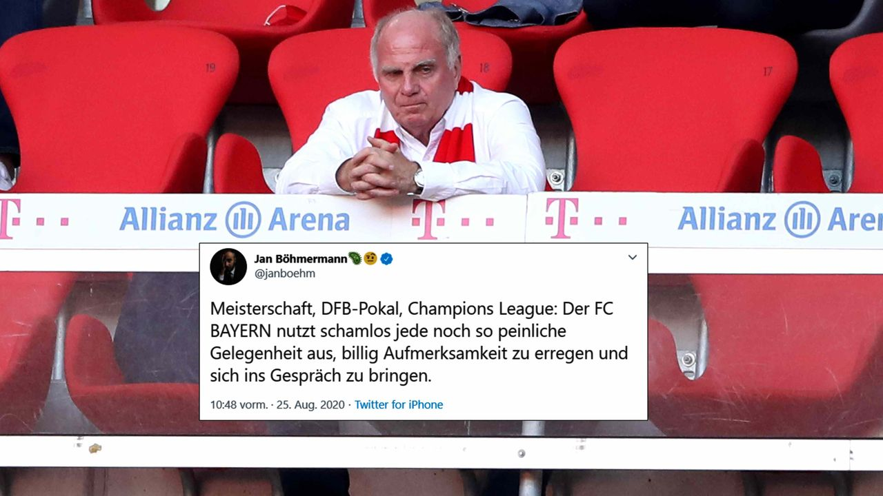 Jan Böhmermann legt gegen den FC Bayern nach - Bildquelle: getty/twitter: @@janboehm