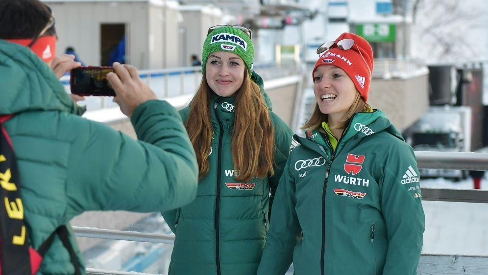 Seyfarth und Althaus im Mixed-Team der Skispringer - Bildquelle: AFPSID