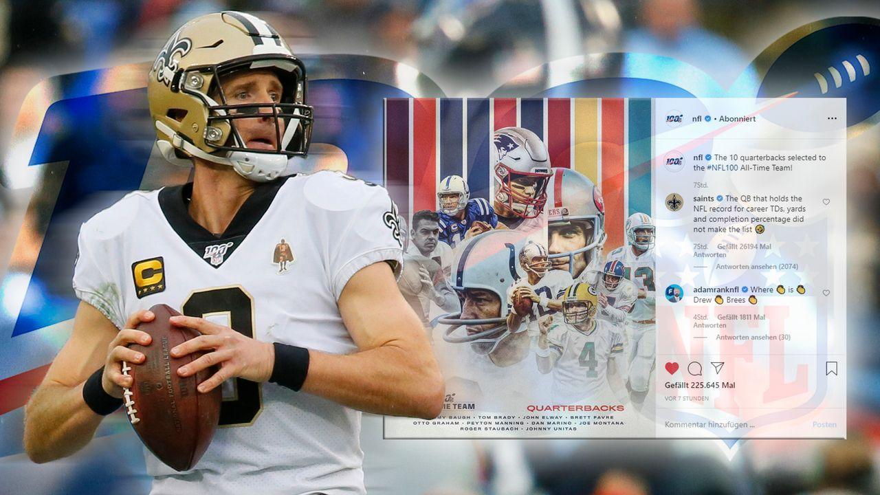 All-Time-Team: Saints machen sich über Nicht-Nominierung von Drew Brees lustig - Bildquelle: Getty Images
