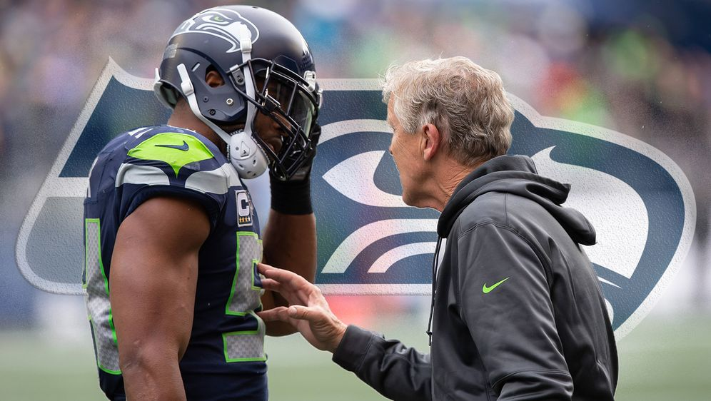 Head Coach Pete Carroll von den Seattle Seahawks will seinen Inside Lineback... - Bildquelle: Imago/icon SMI
