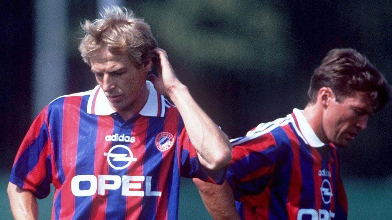 Jürgen Klinsmann vs. Lothar Matthäus - Bildquelle: 1995 Getty Images