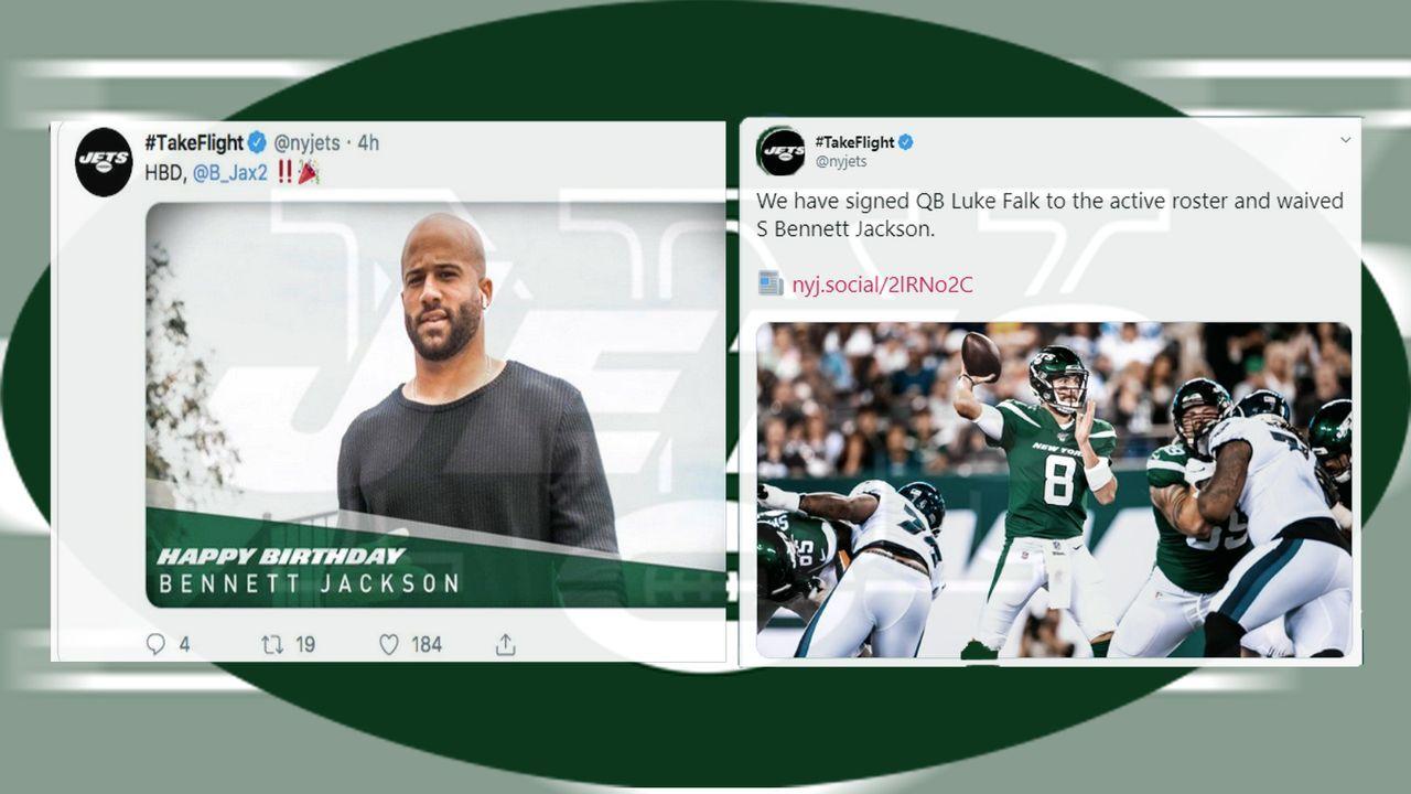 Nach Entlassung: Jets nehmen Geburtstagsglückwünsche zurück - Bildquelle: Twitter