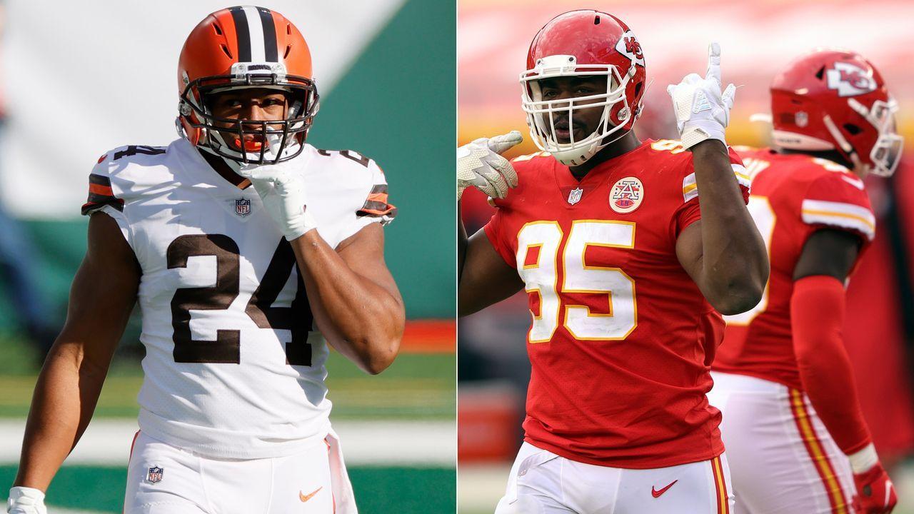 Browns at Chiefs: Nick Chubb/Kareem Hunt vs. Chiefs Defense - Bildquelle: Getty