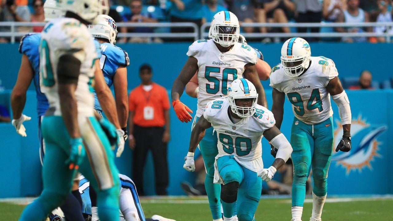 Platz 4: Miami Dolphins  - Bildquelle: 2017 Getty Images