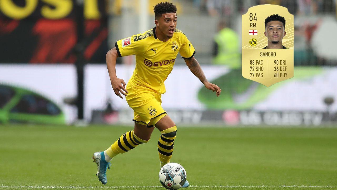 Mittelfeld: Jadon Sancho (+8/Borussia Dortmund) - Bildquelle: 2019 Getty Images