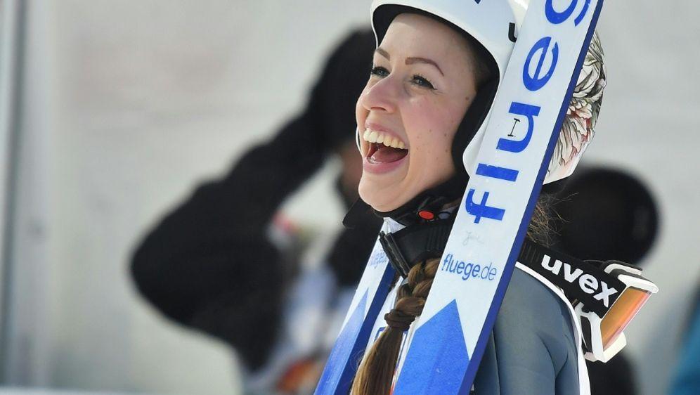 Juliane Seyfarth freut sich über Platz zwei in Oslo - Bildquelle: AFPSIDJOE KLAMAR