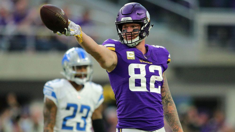 Kyle Rudolph spielt seit 2011 für die Vikings und wurde zweimal in den Pro B... - Bildquelle: Getty