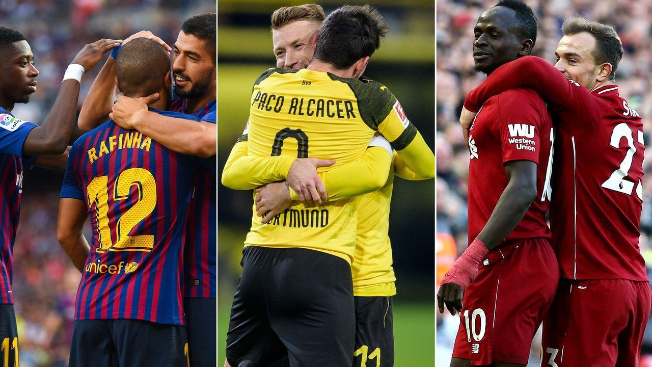 Zuschauerschnitt Europäische Ligen