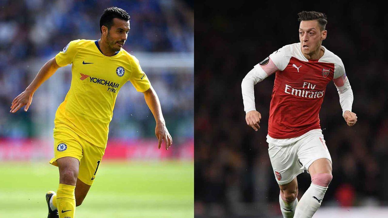 Pedro vs. Mesut Özil - Bildquelle: Getty