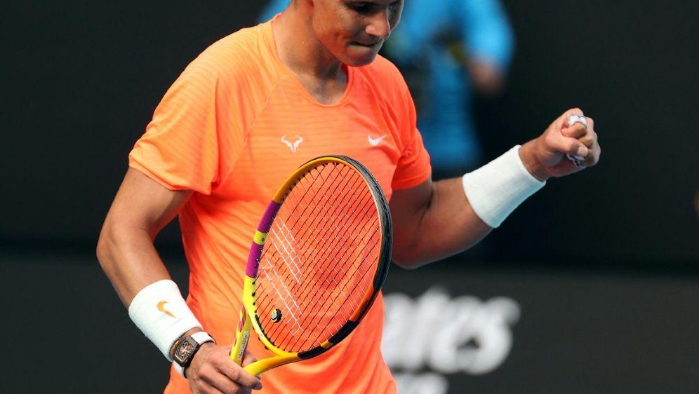 Souverän ins Viertelfinale: Rafael Nadal - Bildquelle: AFPSIDDAVID GRAY