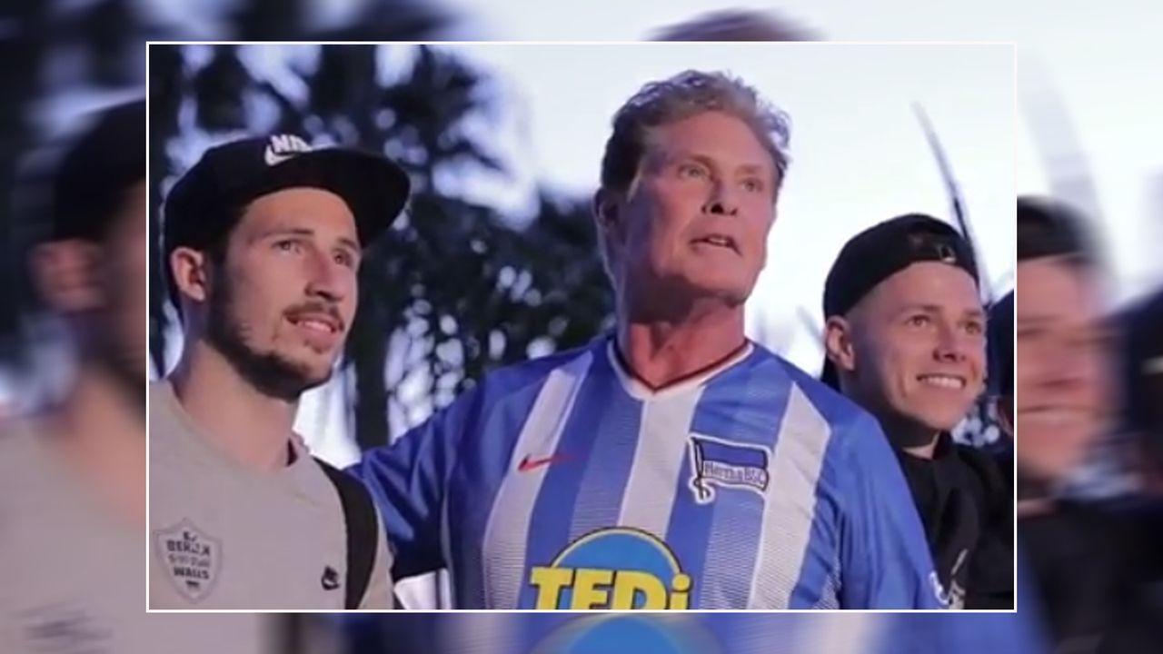 In Los Angeles: Hertha-Stars treffen David Hasselhoff - Bildquelle: herthabsc/instagram