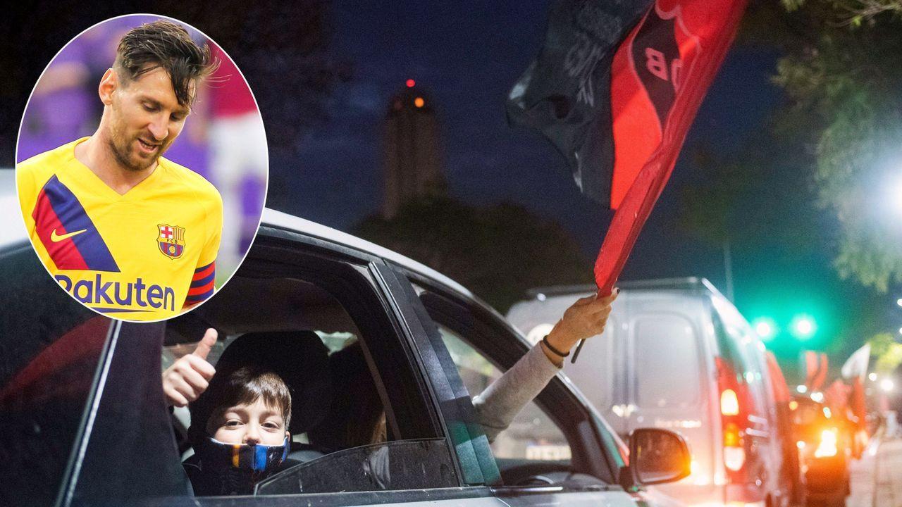 Fans von Newell's Old Boys: Auto-Korso für Messi-Rückkehr - Bildquelle: Imago