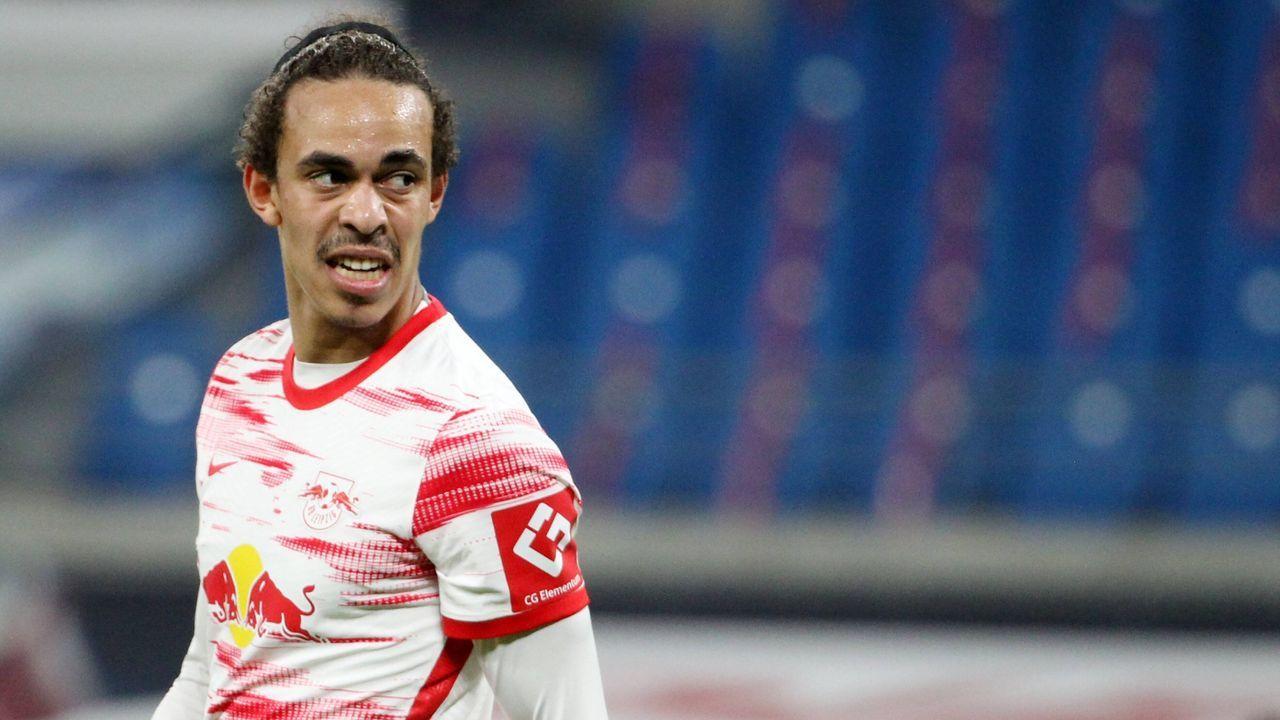 Platz 9 (geteilt) Yussuf Poulsen (RB Leipzig) - Bildquelle: Imago