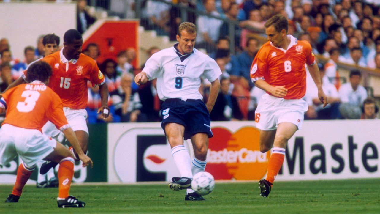EM 1996: Alan Shearer (England) - Bildquelle: Imago Images